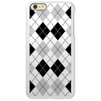 Black White and Grey Argyle Incipio Feather® Shine iPhone 6 Plus Case