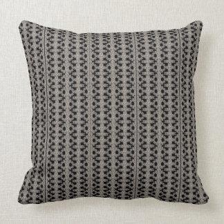 Black, White and Grey Pattern Cushion