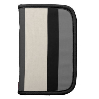 Black White and Grey Striped Planner