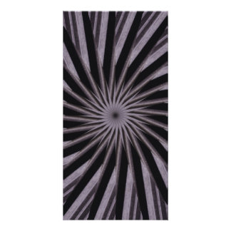 Black white and grey swirly template abstract art customised photo card