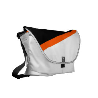 Black White and Orange Messenger Bag