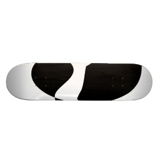 Black, White and Purple Custom Skateboard