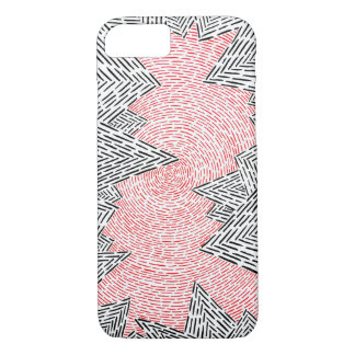 Black, White, and Red Abstract IPhone 7 Case