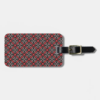 Black White and Red All Under Luggage Tag