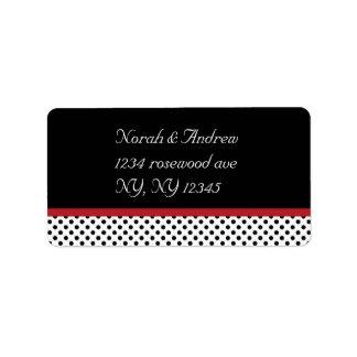 Black, white and red polka dotsAvery Label Address Label