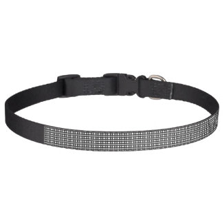 Black, White and Silver Static Weave Pet Collar