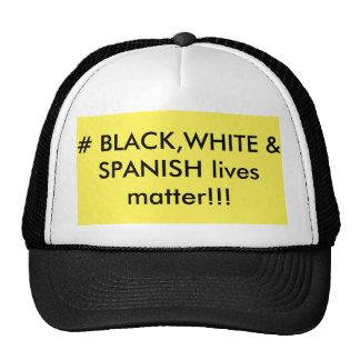 black white and spanish cap