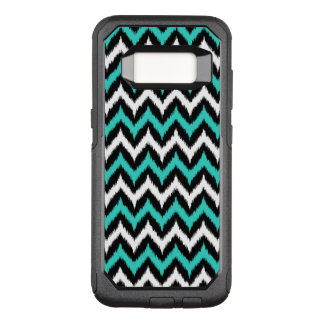 Black, White and Turquoise Zigzag Ikat Pattern OtterBox Commuter Samsung Galaxy S8 Case