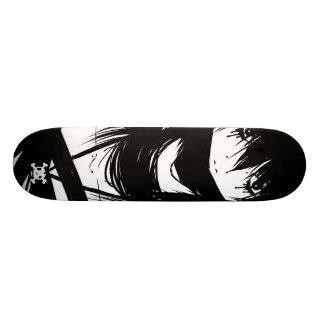 Black &White Anime Skateboard