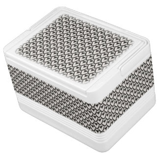 Black & White Art Deco Noir Pattern Cooler