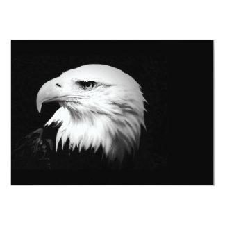Black & White Bald American Eagle Invitation