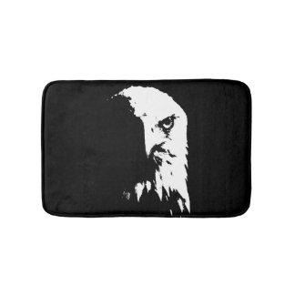 Black & White Bald Eagle Bathmat
