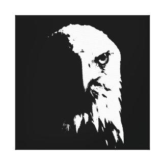 Black & White Bald Eagle Canvas