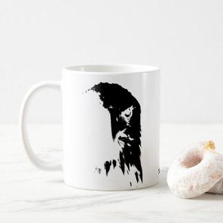 Black & White Bald Eagle Coffee Cup