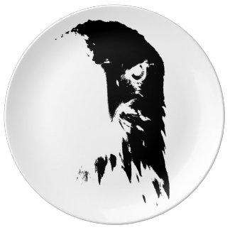 Black & White Bald Eagle Decorative Plate