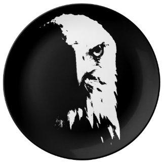 Black&White Bald Eagle Decorative Porcelain Plate