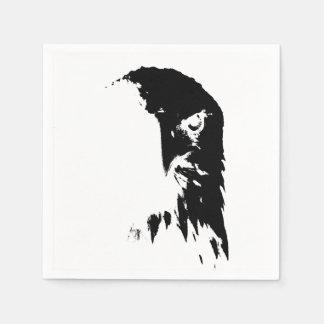 Black & White Bald Eagle Napkins Disposable Serviettes