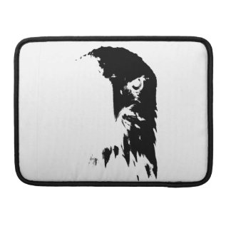 Black & White Bald Eagle Sleeve For MacBook Pro