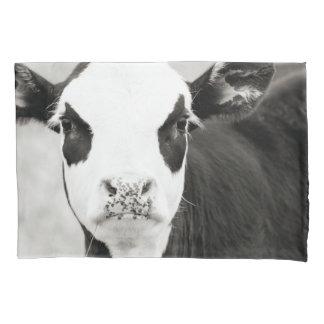 Black & White Baldy Calf Pillow Case