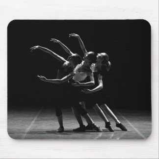 Black & White Ballerinas Dancing Mouse Pad