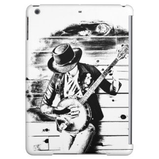Black & White Banjo Man - iPad Air Case