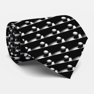 Black White Basketball Artwork Tie