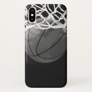 Black & White Basketball iPhone X Case