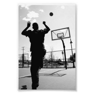 Black & White Basketball Toss Photo Print