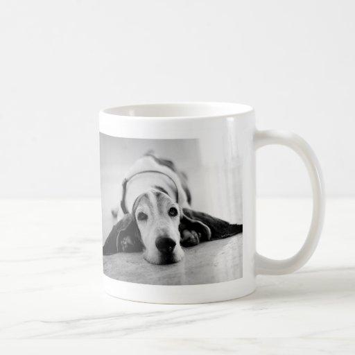 Black & White Basset Hound Mug