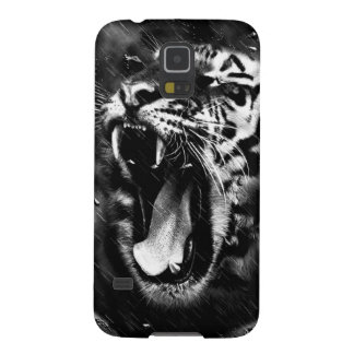 Black & White Beautiful Tiger Head Wildlife Cases For Galaxy S5