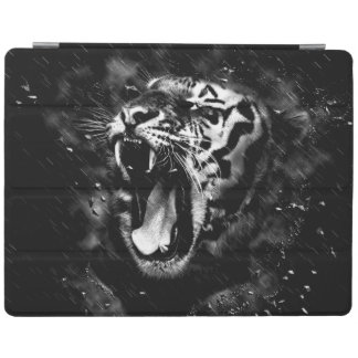 Black & White Beautiful Tiger Head Wildlife iPad Cover
