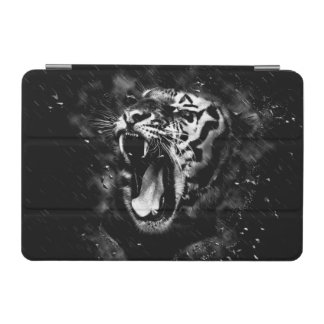 Black & White Beautiful Tiger Head Wildlife iPad Mini Cover