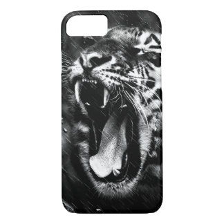 Black & White Beautiful Tiger Head Wildlife iPhone 8/7 Case