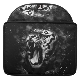 Black & White Beautiful Tiger Head Wildlife MacBook Pro Sleeve