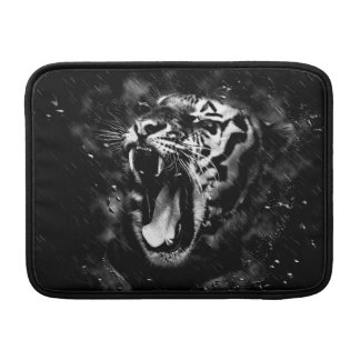 Black & White Beautiful Tiger Head Wildlife MacBook Sleeve