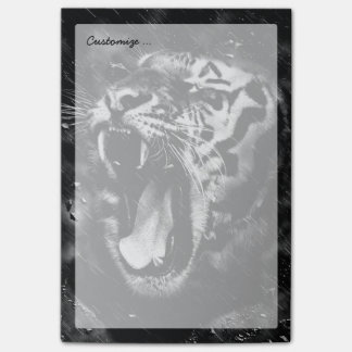 Black & White Beautiful Tiger Head Wildlife Post-it Notes