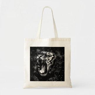 Black & White Beautiful Tiger Head Wildlife Tote Bag