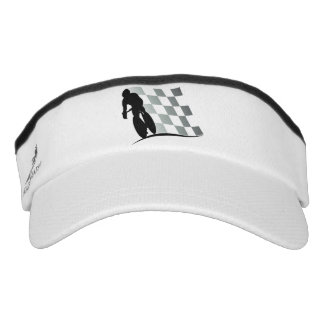 Black White Bicycle Racer Visor