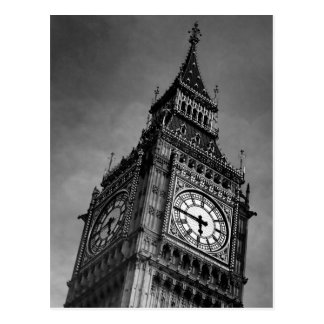 Black & White Big Ben Europe Travel Art Photograph Postcard