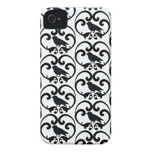 Black white bird damask pattern blackberry bold blackberry bold cover