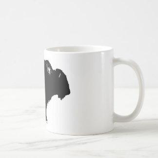 Black & White Bison Buffalo Silhouette Pop Art Coffee Mug