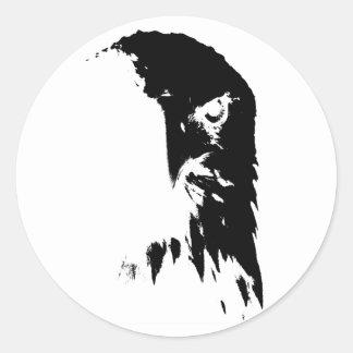 Black & White Blad Eagle Sticker