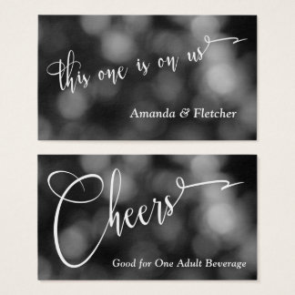 Black & White Bokeh Light Typography Drink Tickets