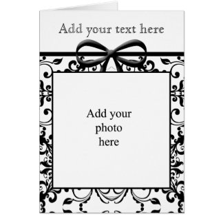 Black & White Bow Personalised Card