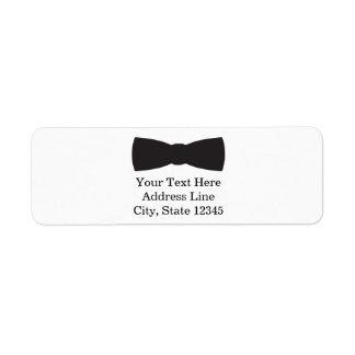 Black & White Bow Tie Tuxedo Boys Party Return Address Label