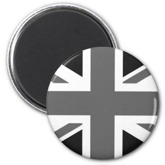 Black & White British Flag Magnet