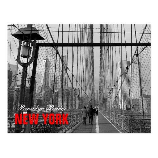 Black White Brooklyn Bridge - NY New York nr 2 Postcards