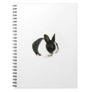Black & White Bunny Rabbit Notebook