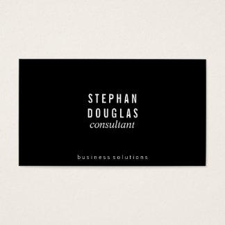 Black   White Business Card