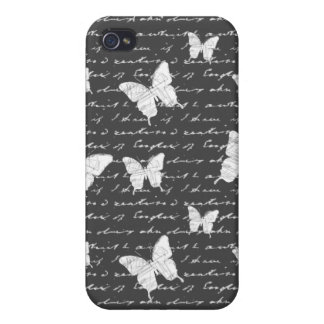 Black & White Butterfly Dreams Cases For iPhone 4